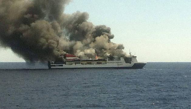 Incendio en un ferry que hacia el trayecto Palma - Valencia.