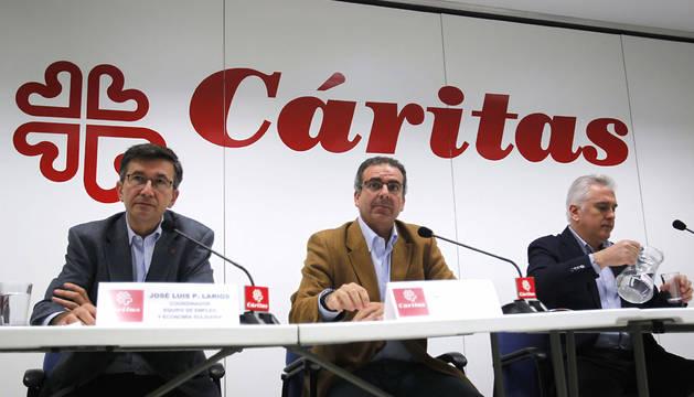 Presentación de la memoria anual de Cáritas.