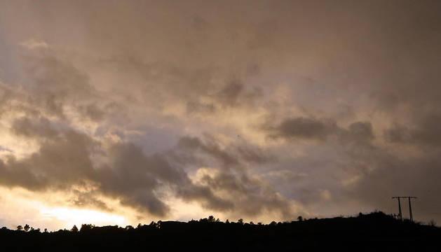 Cielos nubosos en Tierra Estella.