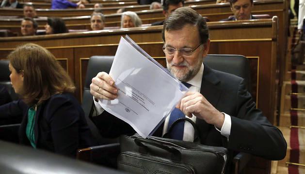 Rajoy, al inicio de la sesión de control al Ejecutivo.