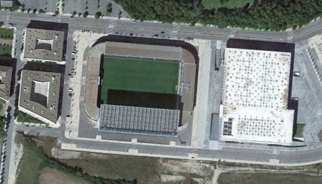 Imagen aérea de El Sadar.