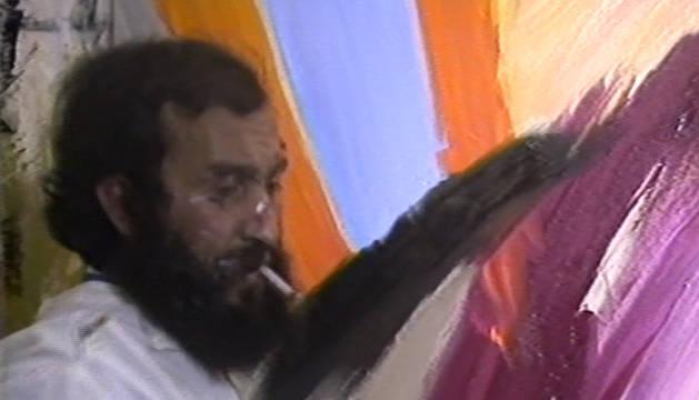 Fotograma del vídeo recuperado del pintor Mariano Royo.