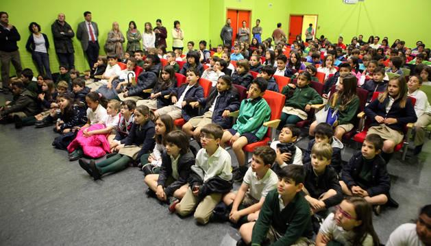 Los niños participantes en el proyecto 'La ciudad que queremos', durante la presentación de sus propuestas celebrada el miércoles.
