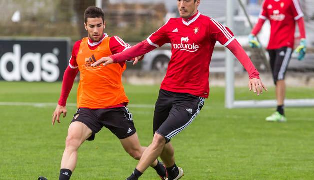 Vujadinovic, en un entrenamiento en Tajonar.