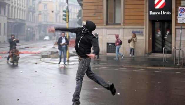 Disturbios en Milán contra la Expo Universal
