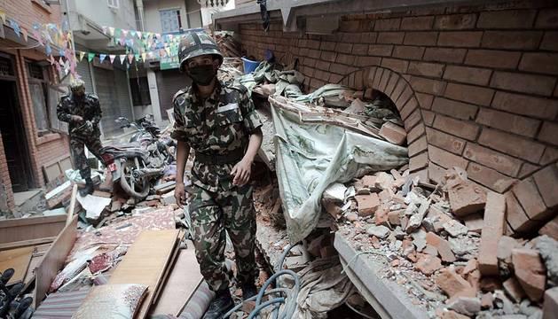 Devastación en Nepal tras el terremoto