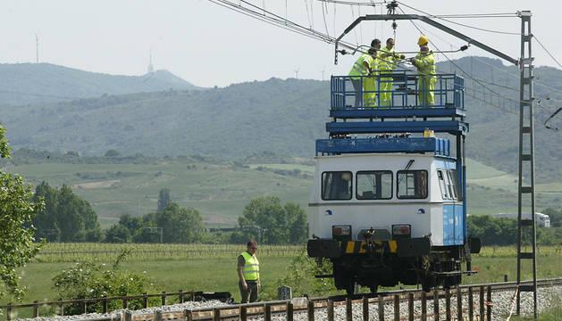 Un sabotaje en Etxarri Aranatz afecta a 500 viajeros de tren