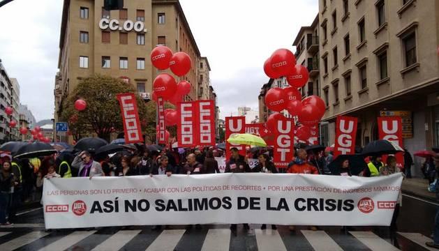 Arrancan las marchas de los sindicatos navarros por el Día del Trabajo