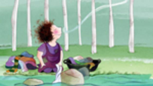 Cartel de 'Katius, la niña del arroyo'.