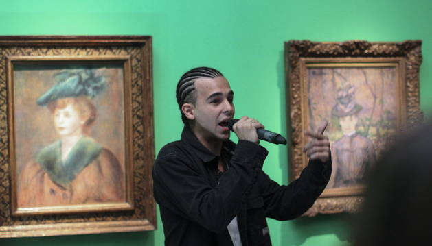 El rapero Under MC, durante una actuación en el museo.