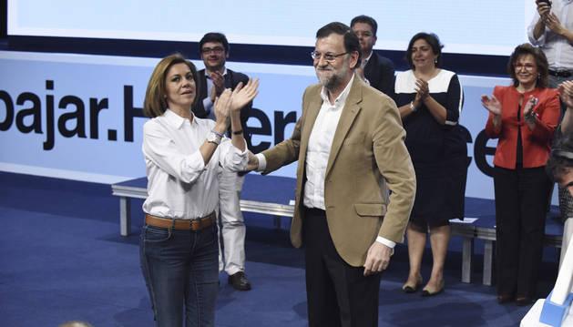 Mariano Rajoy y María Dolores de Cospedal, en Toledo.