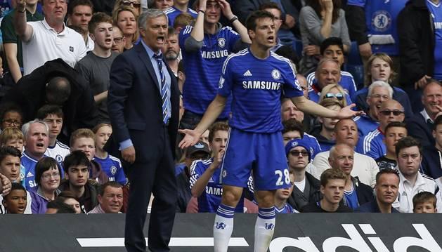 Mourinho y Azpilicueta.