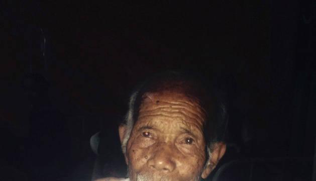 Funchu Tamang, el anciano rescatado en Nepal.