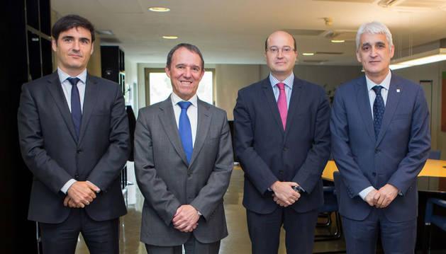 Óscar López, Julio Lafuente, Carlos Fernández Valdivielso y José Arnáez.