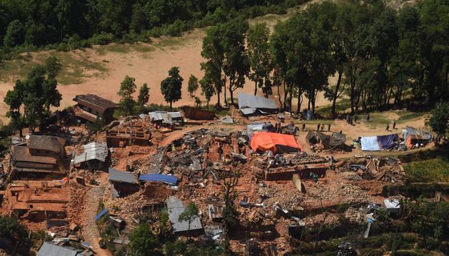 Algunos de los destrozos ocasionados por el seísmo en Nepal.