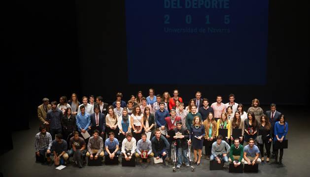 Imagen de la Gala del Deporte, celebrada en el Teatro Museo de Navarra.