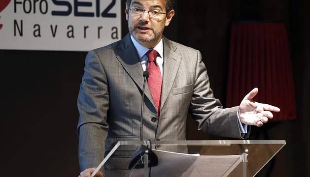 Visita del ministro Rafael Catalá a Pamplona