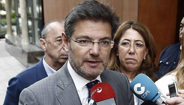 Rafael Catalá, en Pamplona.