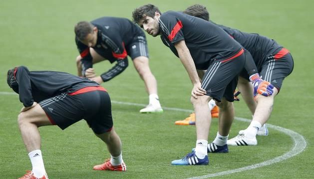 Javi Martínez, en el Camp Nou.