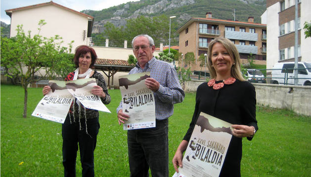 Doris Vicente, Peio Alzueta y Sara García Aristu.