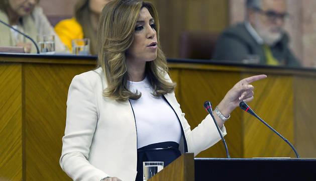La candidata socialista para presidir la Junta de Andalucía, Susana Díaz.