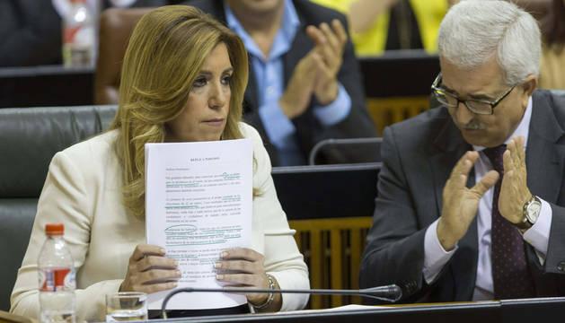 Susana Díaz en el Parlamento andaluz.