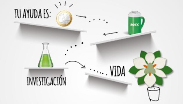 El sábado, campaña por la investigación contra el cáncer en Navarra