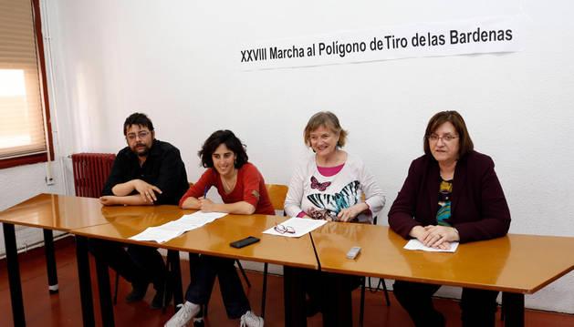 Representantes de la Marcha antipolígono de Bardenas.