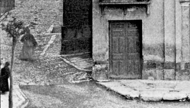 La calle Eza, en la antigüedad.