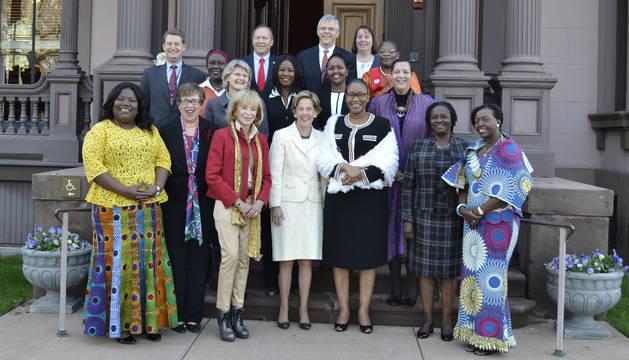 En el seminario participan diez mujeres líderes de cinco países africanos.