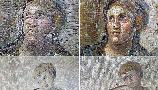 Dos de los mosaicos 'restaurados'.