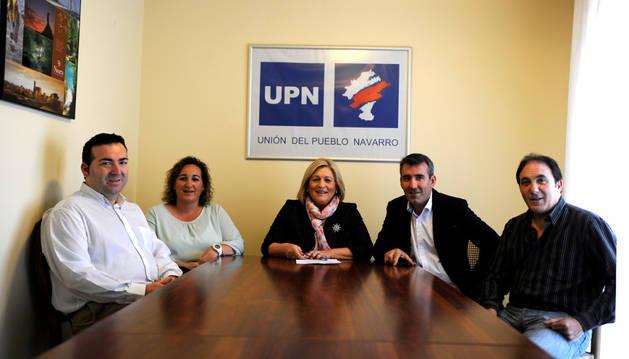 Ángel Castillejo, Rocío Ventura, María José Vidorreta, Carlos Balduz y Javier Busto.