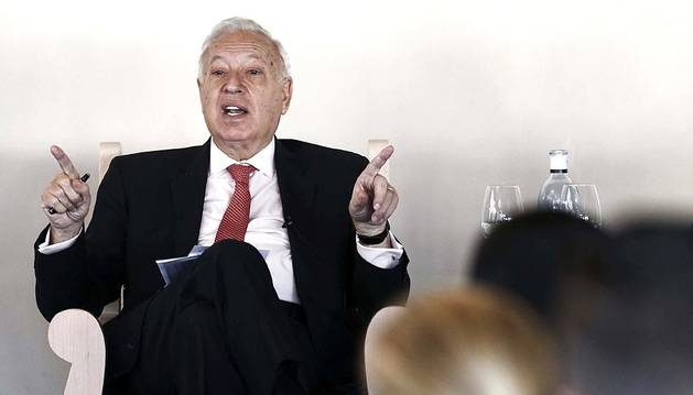 El ministro de Asuntos Exteriores y Cooperación, José Manuel García-Margallo, afirmó en su visita a Pamplona que se va a