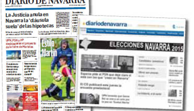 La campaña electoral en Diario de Navarra
