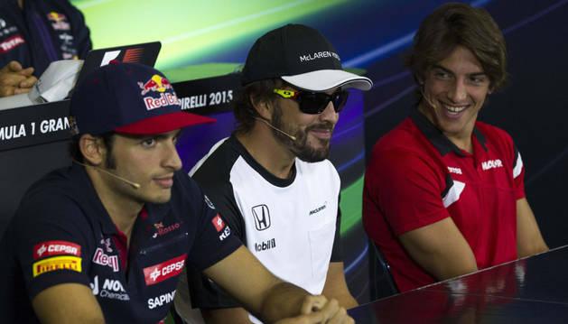 Sainz, Alonso y Merhi.