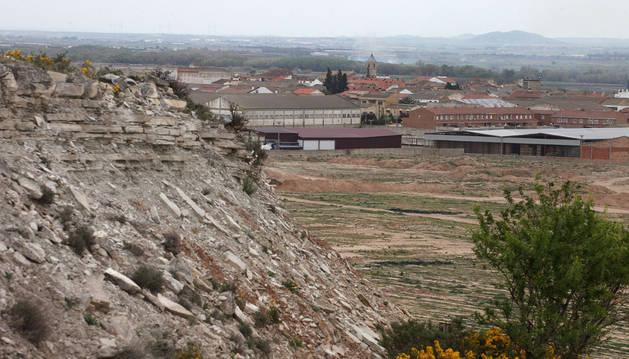 Imagen del casco urbano de Fustiñana.