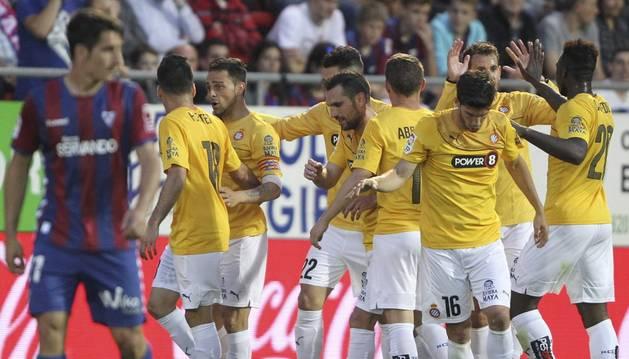 Sergio García celebra su gol.