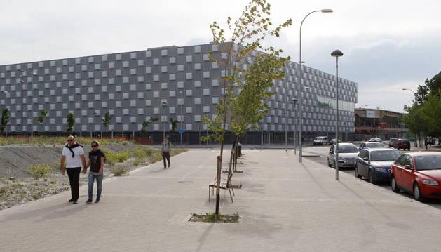 Vista general del pabellón Reyno de Navarra Arena, al que solo le falta la última fase de equipación para poder abrirse al público.