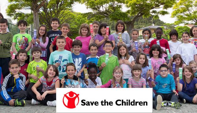 Los escolares de Tafalla expresan con un marcapáginas su solidaridad con Malí