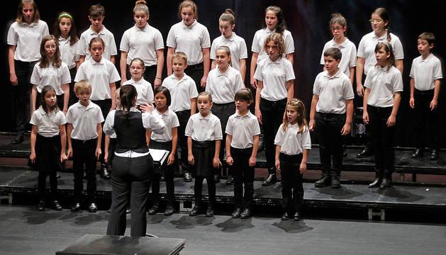 Coro infantil de la Coral de Cámara de Pamplona.