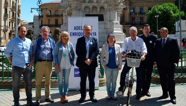 Acto electoral de UPN en el paseo de Sarasate.