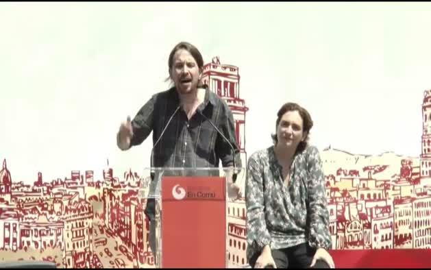 """Pablo Iglesias califica de """"ladrones"""" a Mas y Pujol"""