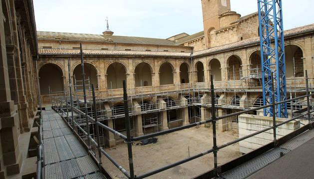 Imagen actual del claustro de Fitero.