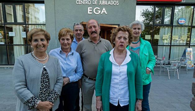Nueva junta del club de jubilados Ega