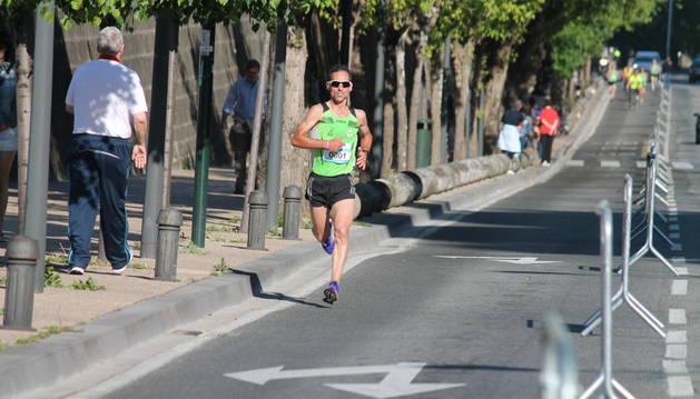 Antonio Echeverría, durante la Media Maratón de Pamplona 2015.