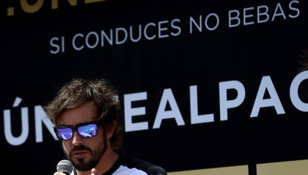 Fernando Alonso, durante la presentación de la campaña.