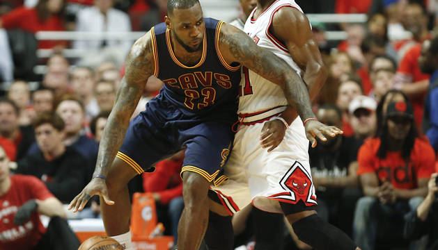 Lebron James, decisivo ante los Bulls.