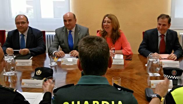 Inicio de la reunión para coordinar la seguridad en la próxima jornada electoral