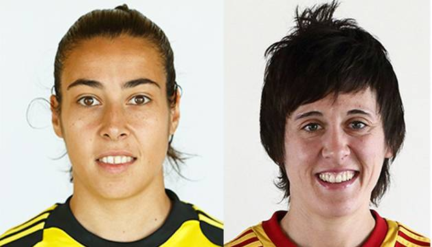 Ainhoa Tirapu y Erika Vázquez.