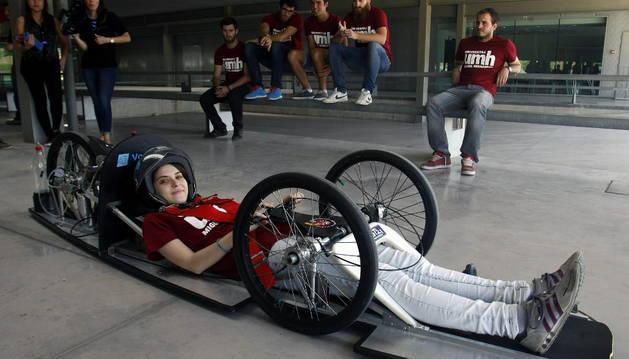 El vehículo creado por los estudiantes alicantinos.